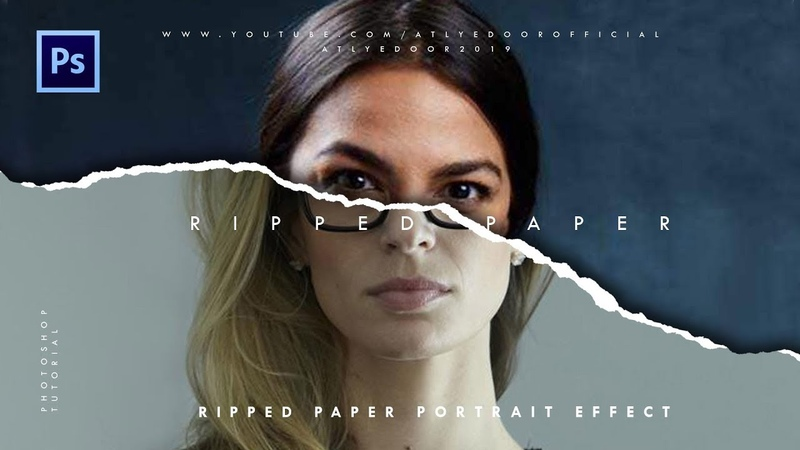 Ripped Paper Portrait Effect | Photoshop Tutorials