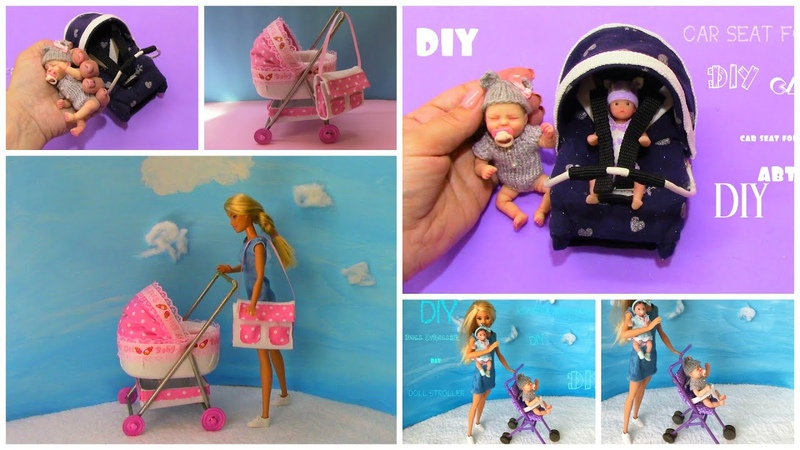 DIY Barbie Baby Hacks and Crafts Miniature baby stroller baby bag and much more