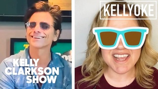 John Stamos Plays Bongos To 'Kokomo' By The Beach Boys With Kelly Clarkson | Kellyoke