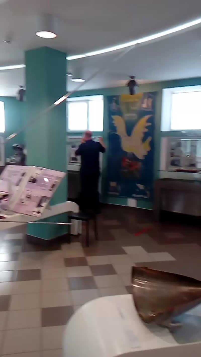 Подготовка к открытию выставки