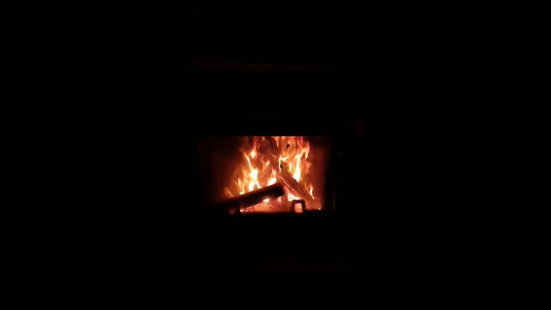 Камин Всем тёплого уютного вечера