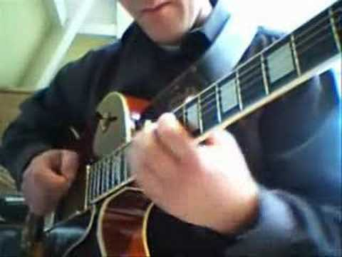 Blue Bossa up tempo jazz guitar