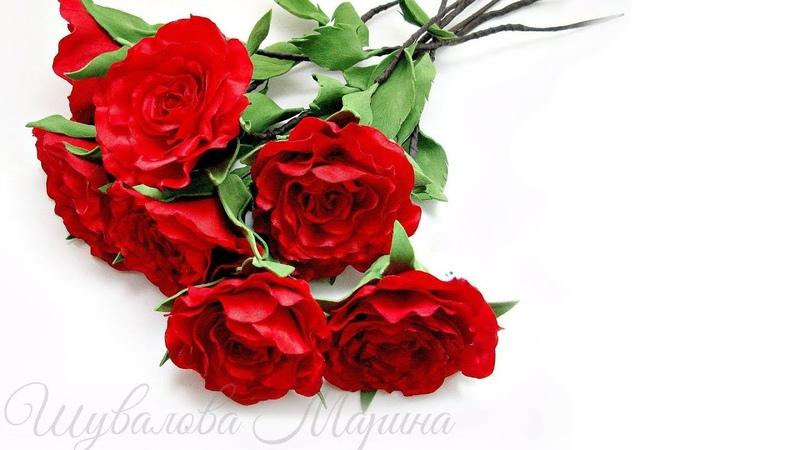 Букет интерьерных роз из атласных лент