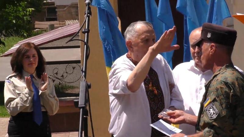 11 июня 2018 Калуш Украинец из дивизии СС Галичина зиганул отдав честь Гитлеру