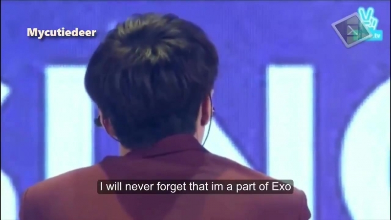 Bringing back this clip of yixing saying sorry and i love you to his members