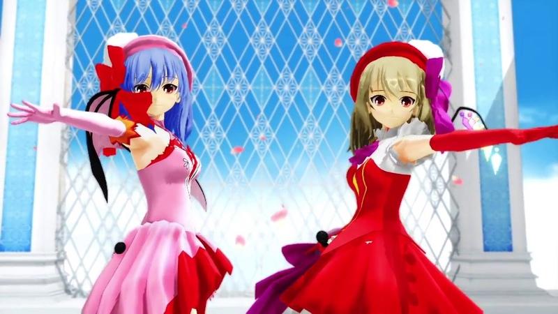 東方MMD 成長紅魔姉妹が昭和のアイドルのように歌う 改造モデル