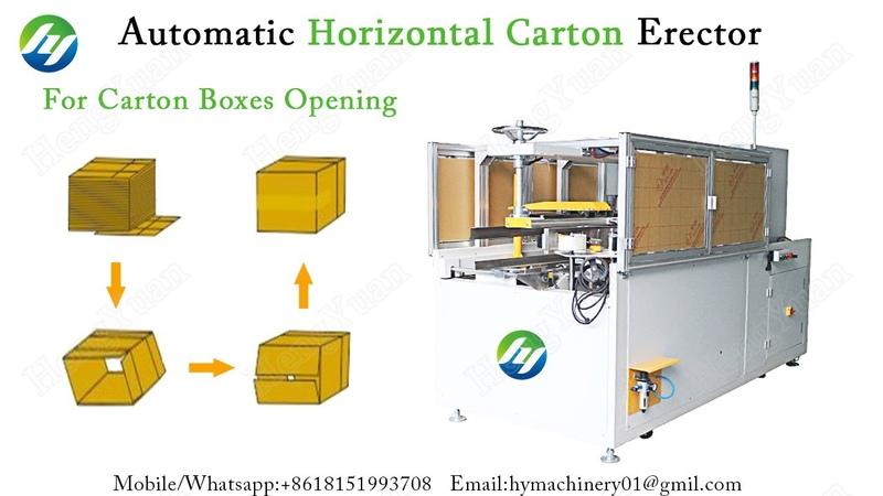 Automatic Horizontal Carton Erector for carton boxes opening