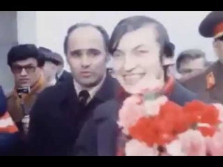 Anatoly Karpov arraved in Moscow from Philippines 1978
