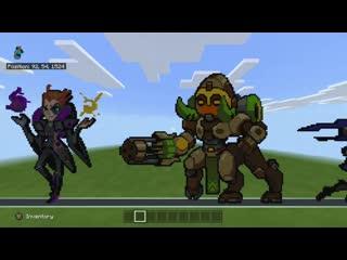 Все герои Overwatch в Minecraft