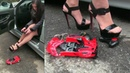 NEW CLIP !! Miss Iris crushing the radio controlled car | Trailer Pedal Pumping