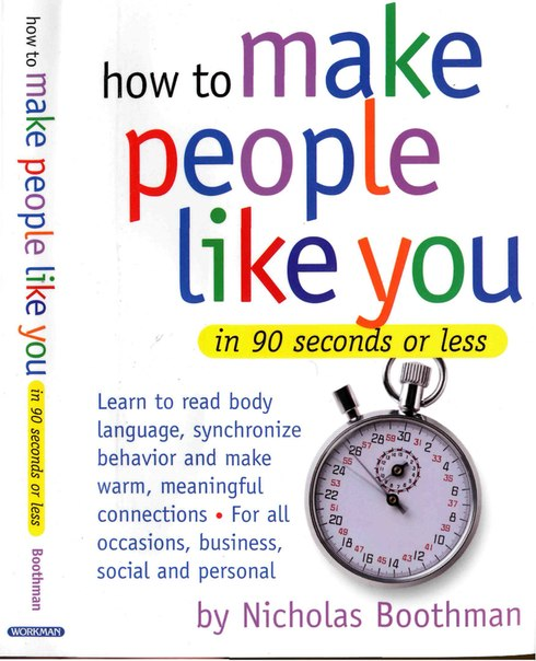 NAME: How to Make People Like You in 90 Seconds or Less