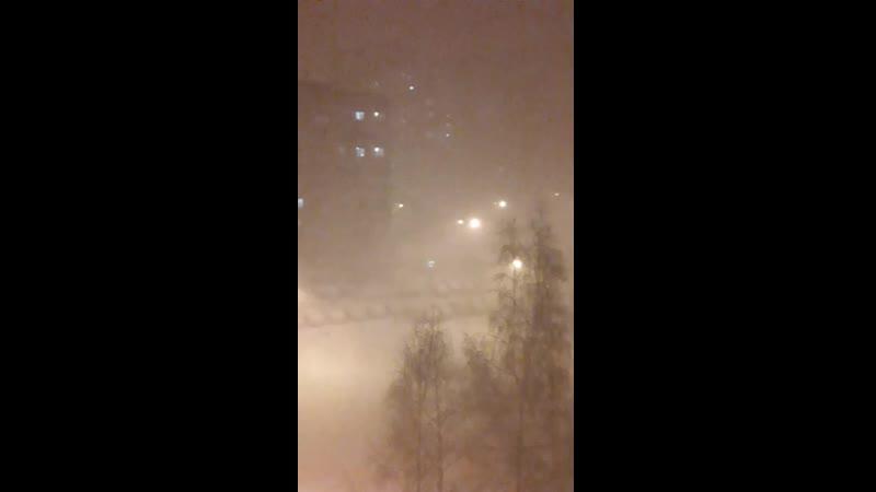 Вечерний буран в Москае и обл.