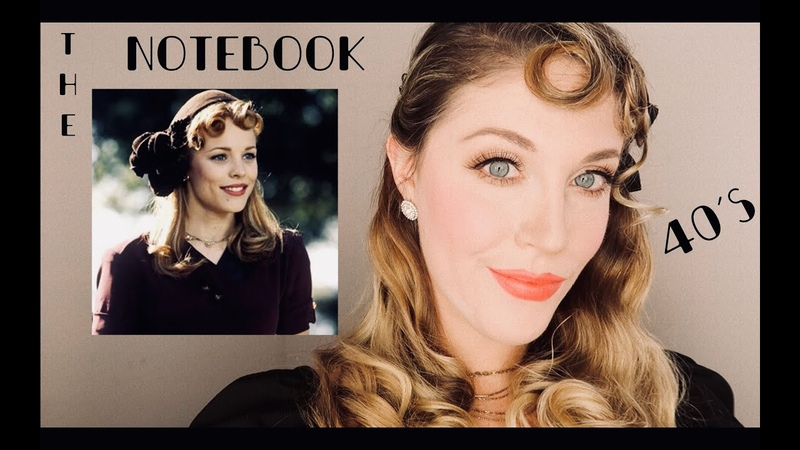 1940's Allie Hamilton the notebook Makeup and Hair tutorial
