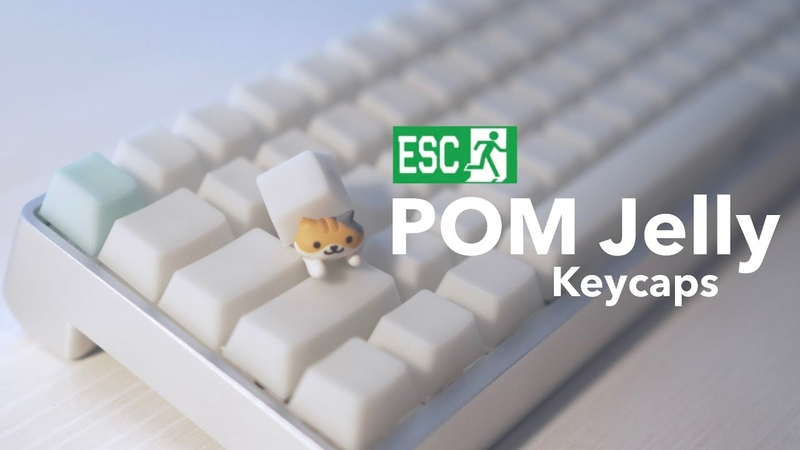 POM Jelly Keycaps by Escape Keyboard Keycaps Comparison Typing Sounds