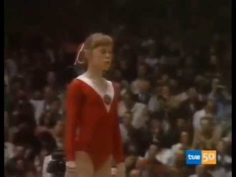 Elena Mukhina world champion - Strasbourg 1978