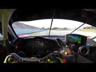 Driver's Eye Onboard:  Ferrari 488 GT3 Evo (Barcelona)