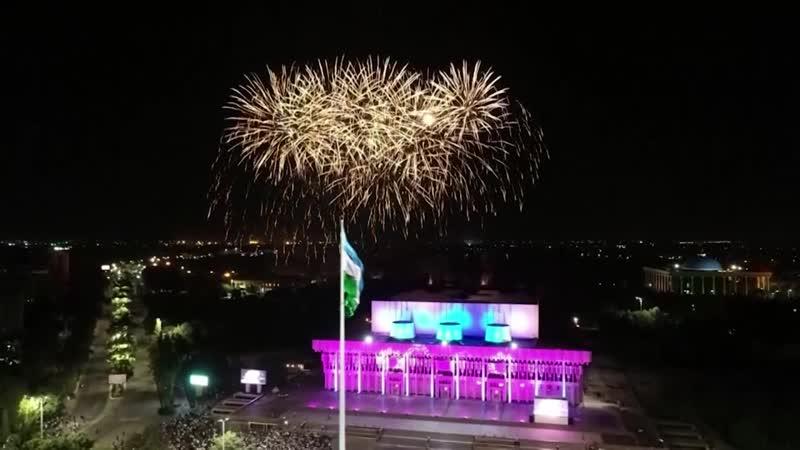 Фейерверк на День Независимости Узбекистана. 01.09.2018 г.