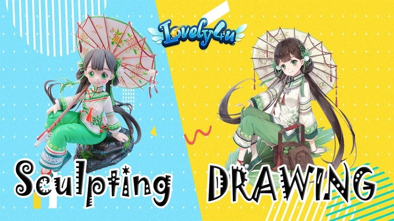 124 How to make Anime Figure┃Food Fantasy Matcha Rice Clay Tutorial┃Lovely4u