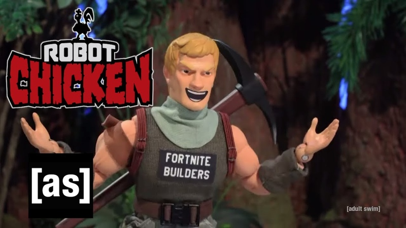 Fortnite Builders Robot Chicken adult swim