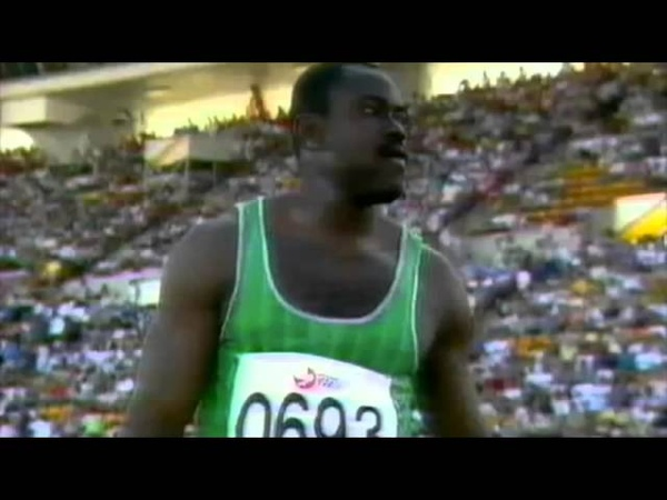 2683 Commonwealth Track Field 1990 Shot Put Men Adewale Olukoju