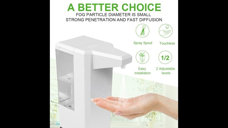 Back to school season New Automatic Touchless Alcohol Dispenser 500ML for Hand Disinfection