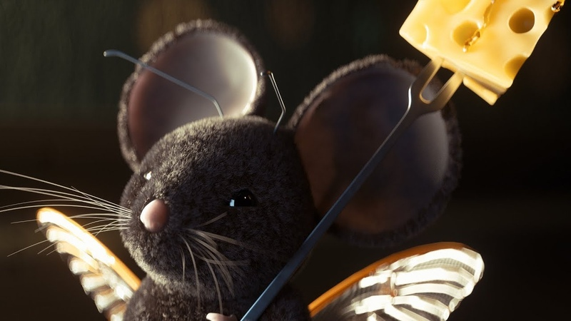Cinema 4D Tutorial - Using Octane Render to Texture Light a Furry Mouse Scene Part 2