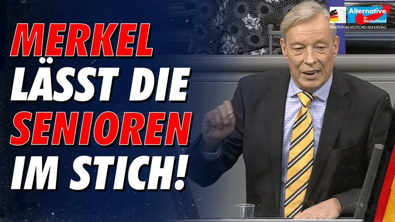 Merkel lässt die Senioren im Stich Armin Paulus Hampel AfD Fraktion im Deutschen Bundestag