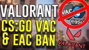 VALORANT VANGUARD CAN GET YOU BANNED IN CSGO RUST - VAC, EAC Easy Anti-Cheat Issue Valorant