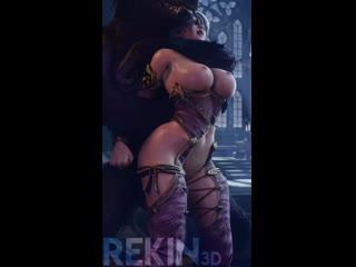 Ivy and the werewolf (Rekin3D, Evilaudio) Soulcalibur 3D Porno R34