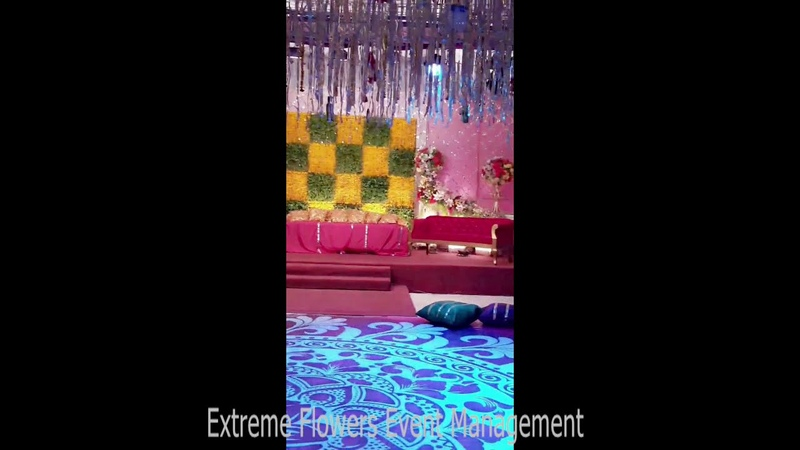 How to Arrange Beautiful Mehndi Wedding Stage Decoration at Hall Multiple Ideas and Style by EFEM