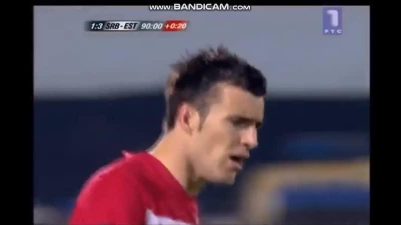 Serbia Estonia Q Euro 2012 Alexsandr Lukovic own goal