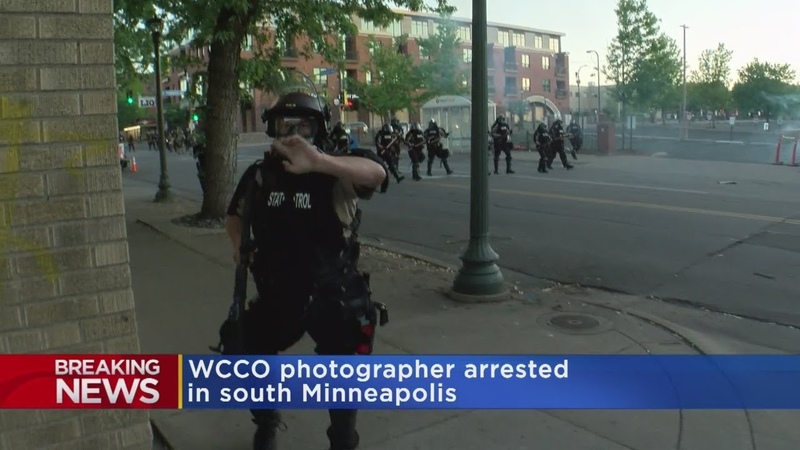 WCCO Veteran Photographer Struck By Rubber Bullet Arrested By State Patrol
