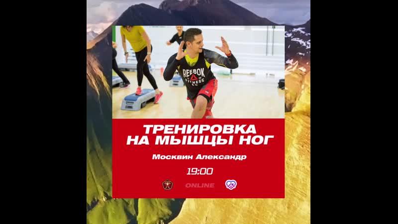Тренировка на мышцы ног с Александром Москвиным