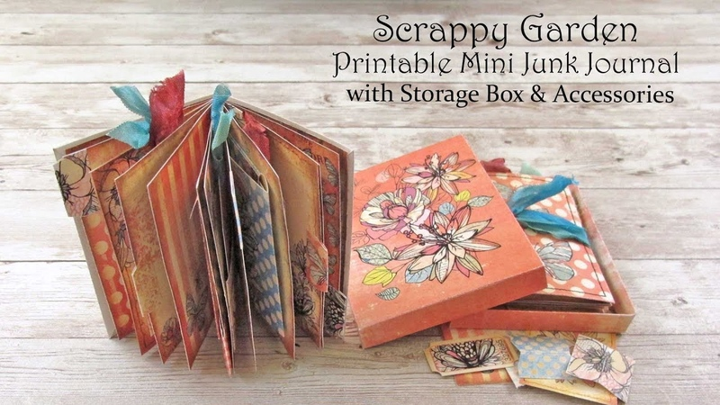 Printable Mini Junk Journal Flip Through Scrappy Garden