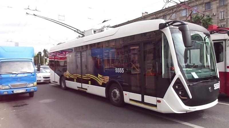 Адмирал, покажись! Троллейбус Петербурга 9-472 6281 Адмирал б. 5555 по №- обкатка (05.08.19)