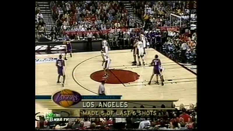 NBA WCF 2000 Lakers Trail Blazers G3 1st quarter
