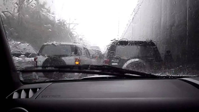 Fat rain in Jakarta