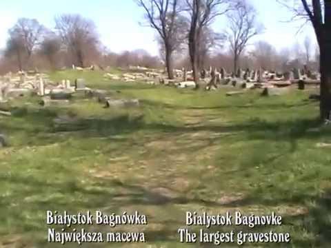 Białystok. Największa macewa. The largest headstone.