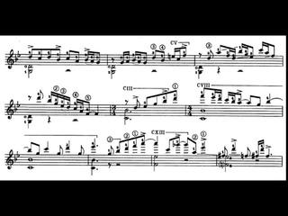 Astor Piazzolla: Cinco Piezas for Guitar: III. Acentuado (Score video)