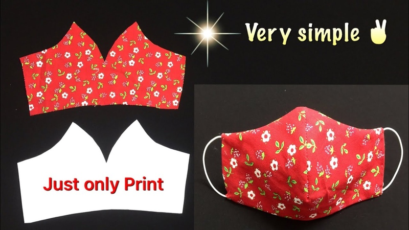 Very simple, just only print to make mask at home with filter pocket Mẫu khẩu trang in sẵn