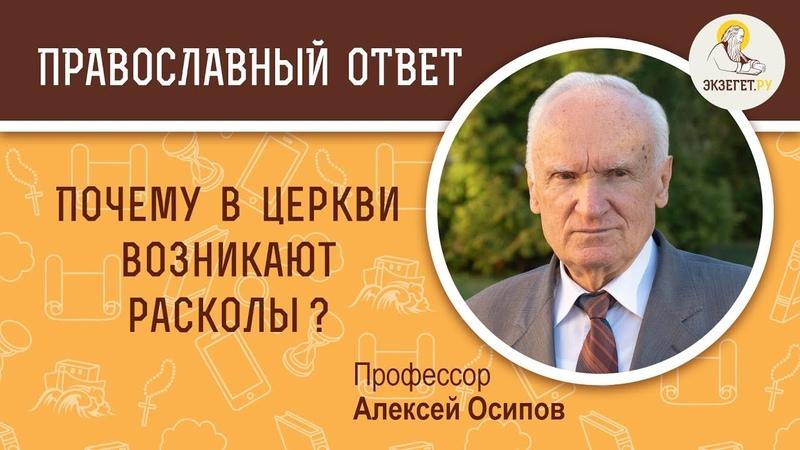 Почему в Церкви возникают расколы Профессор Алексей Ильич Осипов