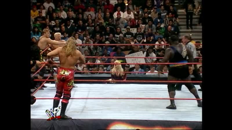 WWF Sunday Night Heat 07 02 1999 Owen Hart Jeff Jarrett vs D'Lo Brown Mark Henry vs Triple H X Pac