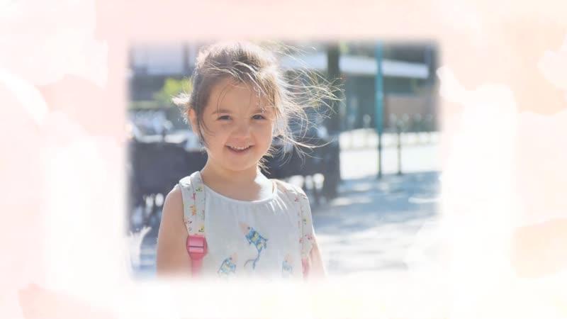 С Днём Рождения Доченька Пример поздравления для маленькой доченьки№ 11 розовый фон цветы