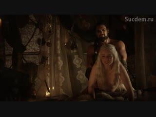 Секс с Эмилией Кларк из Сериала Игра престолов