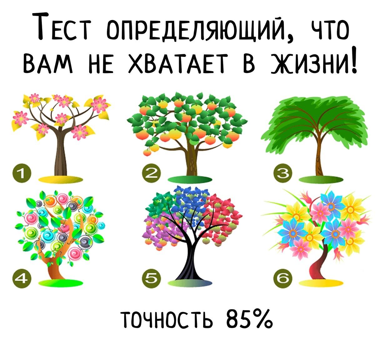 Психологический тест в картинках деревья многих