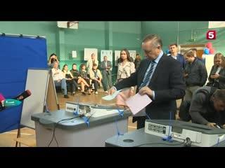 Беглов проголосовал на выборах губернатора Санкт-Петербурга