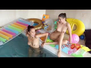Paula Shy and Sybil A - Sexy Pool Play [Lesbian]