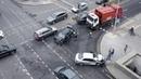 Последствия аварии. Столкнулись BMW и Toyota