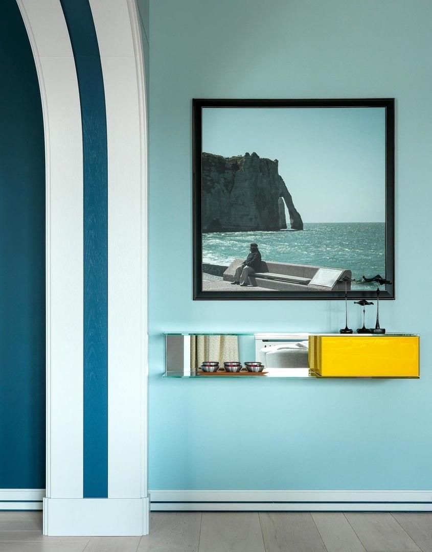 Песок и море: интерьер квартиры 200 м² в Москве от Александра Безвушко || 01
