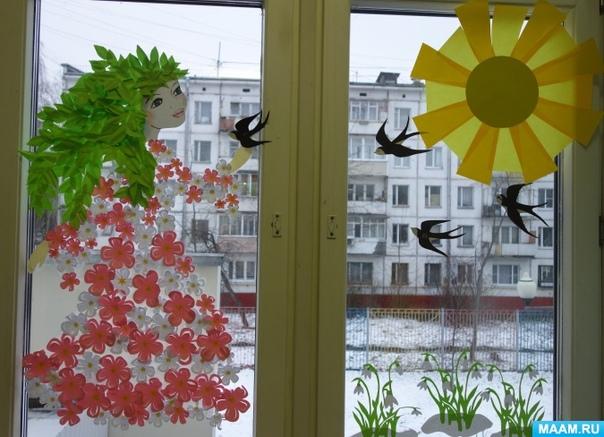 Весеннее оформление группы Автор Ольга Панкова
